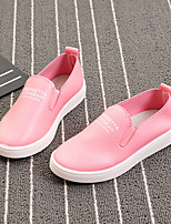 Unisex Loafers & Slip-Ons Spring Fall PU Casual Flat Heel Others Black Blue Pink Red Others