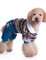 Colouful Costume Coat with Pants Jumpsuits for Pets Dogs Dog Clothes