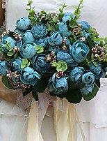 Wedding Flowers Round Peonies Bouquets Wedding / Party/ Evening Satin 9.06(Approx.23cm)