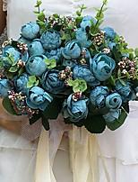 Fleurs de mariage Rond Pivoines Bouquets Mariage / Le Party / soirée Satin Env.23cm