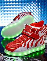 LED Light Up Shoes,Girl's Sneakers Spring Fall Comfort Microfibre Casual Flat Heel Lace-up Blue Green Red Walking