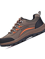 Men's Sneakers Spring / Fall Comfort / Round Toe  Outdoor / Athletic Flat Heel Lace-up Brown / Green / Gray Hiking