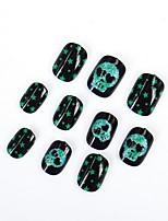 de nieuwe halloween spook hoofd nep-nagels volwassen kinderen algemene milieuregels nagel strips 20pcs / set