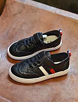Unisex Sneakers Spring / Fall Comfort / Round Toe Leather Casual Flat Heel Lace-up Black / White Others