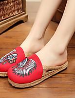 Damen-Sandalen-Lässig-Gummi-Flacher Absatz-Komfort-Blau