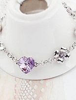 Thousands of colors Bracelet/Chain Bracelets Alloy Heart Fashionable Daily Jewelry Gift Silver1pc