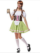 Costumes de Cosplay / Costume de Soirée Fête d'Octobre/Bière / Costumes de carrière Fête / Célébration Déguisement Halloween VertCouleur