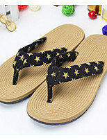 Women's Sandals Summer Sandals Cotton Casual Flat Heel Others Black / Red Others