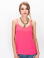 NAKED ZEBRA Women's Crew Neck Sleeveless Vest & Waistcoat White / Pink / Orange-AT2333