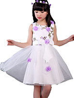 Girl's Casual/Daily Print DressOthers Summer Purple / Red / White