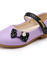 Girl's Flats Spring / Fall Comfort / Round Toe PU Dress Low Heel Others / Hook & Loop Pink / Purple / Red Others