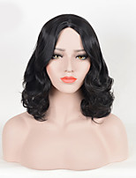 Black Color Women Synthetic Wigs Fashion Middle Wave European and American Wigs