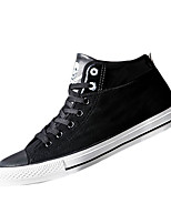 Men's Sneakers Spring / Fall Comfort Fabric Casual Flat Heel Black / Gray Sneaker