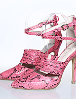 Women's Sandals Summer Heels / Sandals / Pointed Toe PU Party & Evening / Dress / Casual Stiletto Heel Buckle Fuchsia /