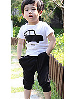 Boy's Casual/Daily Print Clothing SetCotton Summer White