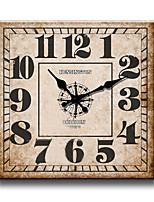 Modern/Zeitgenössisch Familie Wanduhr,Quadratisch Holz 34*34*3cm Drinnen Uhr