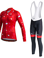 Sports Cycling Jersey Women's Long Sleeve BikeThermal / Warm / Quick Dry / Fleece Lining / Moisture Permeability / Reflective Strips /