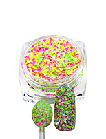 Mixed Colors Shining Nail Cheese Glitter Powder Nail Art Manicure Pigment Beauty Nail Decorations Set From SN09 To SN16