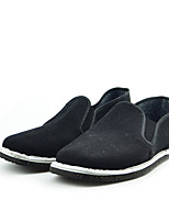 Men's Flats Fall Comfort Cotton Casual Flat Heel Others Black Others