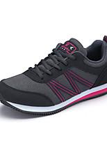 Frauen Laufsportschuhe Frühjahr / Komfort Tüll beiläufige flache Ferse blau / grau Sneaker fallen