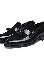 Men's Oxfords Spring / Summer / Fall / Comfort / Round Toe / Closed Toe  Casual Flat Heel Tassel Black / Brown Walking