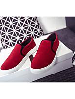 נשים-נעליים ללא שרוכים-דמוי עור-נוחות-שחור / אפור / בורגונדי / שחור מט-קז'ואל-עקב שטוח