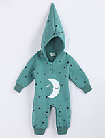 Girl's Casual/Daily Galaxy Overall & JumpsuitCotton Fall Green