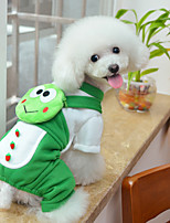 Dog Clothes/Jumpsuit / Backpack Green Dog Clothes Winter / Spring/Fall Cartoon Cute / Casual/Daily