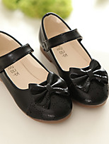 Boat Shoes Spring Fall Light Up Shoes Leather Outdoor Flat Heel Bowknot Black Pink Gold Walking