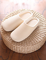 Unisex Slippers & Flip-Flops Fall Winter Comfort Cotton Casual Flat Heel Others Blue Yellow Gray Others