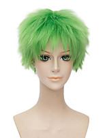 courte perruque frisée couleur verte naturelle cosplay synthétique afro pas cher africain perruque américain