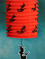 halloween položek Jack kostru přenosný barevný dýně skládací lampion barvy světla série náhodný 5 * 15