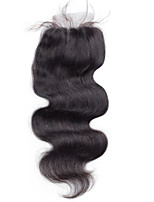 4x4 Closure free/middle/three part Body Wave Human Hair Closure Medium Brown Swiss Lace about 30g gram Average Cap Size