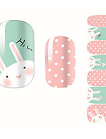 Fashion Cute Pink Rabbit Dot Nail Decal Art Sticker Gel Polish Manicure Beautiful Girl