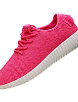 Damen-Sneaker-Lässig-PU-Flacher Absatz-Komfort-Schwarz Rot Grau