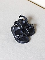 Girl's Sandals Spring / Summer Sandals PU Outdoor / Casual Flat Heel Bowknot Black / Pink / White Walking