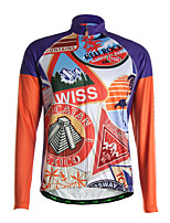 Sports Bike/Cycling Tops Men's Long Sleeve Breathable /Back Pocket / Ultra Light Fabric / Thermal / WarmPolyester /