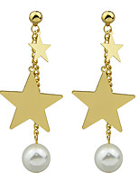 Earring Star Jewelry Women Fashion Party / Daily / Casual Alloy 1 pair Gold KAYSHINE