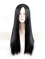 Fashion Black Color Straight Afro Women Cosplay Synthetic Wigs