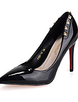 Homme-Décontracté-Noir / Rose / Violet / Rouge / Gris-Talon Aiguille-Confort-Chaussures à Talons-Cuir Verni