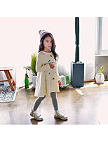 Girl's Casual/Daily Solid Dress / Overall & JumpsuitCotton Winter / Fall Beige