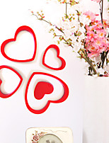 5PCS New Qualified Decoration Circles Creative Stereo Removable 3D DIY Heart Shape Stickers
