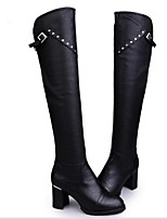 Women's Boots Fall Winter Fashion Boots PU Outdoor Chunky Heel Others Black Others