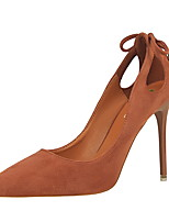 Women's Heels Spring / Summer / Fall / Winter Comfort / Pointed Toe / Closed Toe  Casual Stiletto Heel Bowknot / Tassel