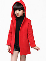 Mädchen Anzug & Blazer / Jacke & Mantel-Lässig/Alltäglich einfarbig Polyester Winter / Frühling / Herbst Grün / Rot
