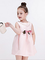 Girl's Casual/Daily Solid DressCotton / Rayon Spring / Fall Pink