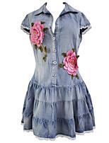 Damen Hülle Kleid-Klub Sexy Solide V-Ausschnitt Mini Kurzarm Blau Polyester / Elasthan Sommer Hohe Hüfthöhe Mikro-elastisch Dünn