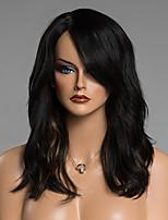 Ladylike Long Wavy Side Bang Human Hair Wig For Women