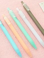 12 PCS Frost Color Black Ink Gel Pen