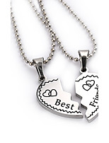 2pcs/set New Fashion Jewelry Best Friends Broken Heart Pendant Necklace Popcorn Chain Necklace Gifts For Women Girls